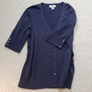LOFT Sweater, Short- sleeved, Deep Blue, Sz Large